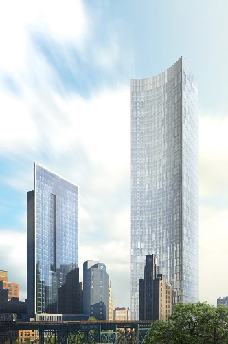 Rendering released for 70-story tower, Queens Plaza Park, in Long Island City